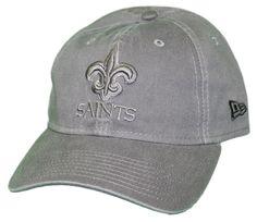New Era New Orleans Saints NFL 9Twenty Classic Tonal Adjustable Graphite  Hat c46569b2fd96