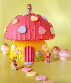 Toadstool cake- good old woman's weekly                                                                                                                                                                                 More