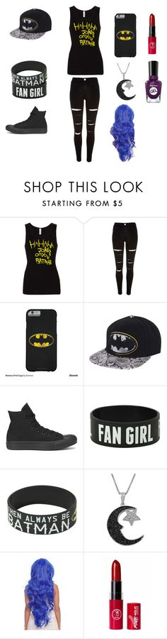 """""""Batman"""" by onedirectionfan2231 ❤ liked on Polyvore featuring River Island, Converse, Jewel Exclusive and Sally Hansen"""