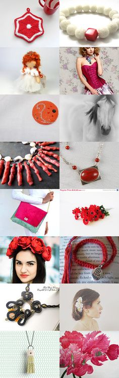 White And Red by Laura P. on Etsy--Pinned with TreasuryPin.com