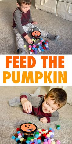Halloween Activities For Toddlers, Fall Preschool Activities, Preschool Art Projects, Toddler Learning Activities, Infant Activities, Theme Halloween, Halloween Kids, Toddler Halloween Games, Halloween Theme Preschool