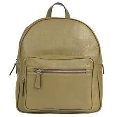 Anka rucksack in Khaki Natural Grain Leather Leather Backpack, Leather Bag, Small Leather Goods, Leather Accessories, Natural Leather, Travel Essentials, Italian Leather, Travel Bags, Leather Handbags