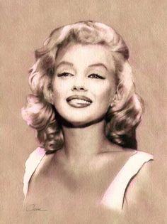 Marilyn Monroe par votreaquarelle