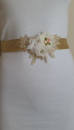 wedding belt,Wing,Baby Shower Sash Mommy to Be Sash bridal belt champagne satin,handmade flowers,wedding belt Long Waist. Bride Belt, Bridal Sash Belt, Bridal Sandals, Star Wedding, The Wedding Date, Free Wedding, Wedding Gloves, Wedding Belts, Baby Shower Sash