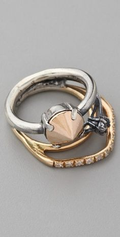 Losselliani Fused Ring. Love the mix of gold and silver