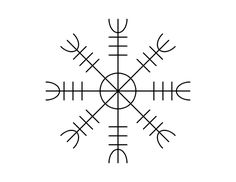 El Aegishjálmr, es un símbolo muy conocido en mi cuenta de Twitter, ya que lo he compartido varias veces con todos vosotros. Personalmente es uno de mis preferidos y se utiliza para aterrorizar a los enemigos. Si posees este símbolo en tu cuerpo, te da confianza a ti mismo y a su vez, hace debilitar al enemigo.