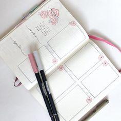 Weekly log in bullet journal
