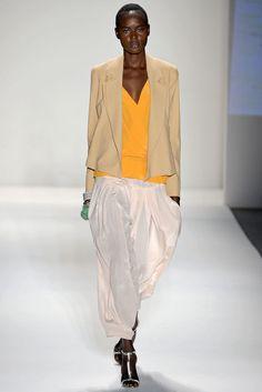 draped blazer v-neck top harem pant - tracy reese - spring 2013 rtw #nyfw