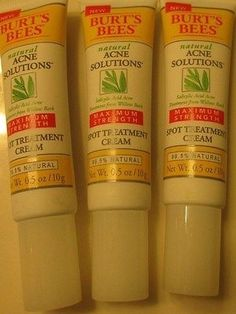 cool Lot of 3 Burt's Bees SPOT TREATMENT Acne Solutions .5 fl oz Max Strength - For Sale View more at http://shipperscentral.com/wp/product/lot-of-3-burts-bees-spot-treatment-acne-solutions-5-fl-oz-max-strength-for-sale-2/