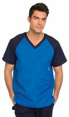 Blue sporty Koi scrub top for men Scrubs Outfit, Scrubs Uniform, Men In Uniform, Spa Uniform, Stylish Scrubs, Stylish Tops, Doctor Scrubs, Nurse Costume, Medical Uniforms