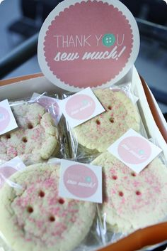 "BUTTON COOKIES - Baby Shower ""Cute as a Button"""