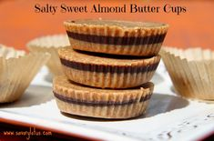 Salty And Sweet Almond Butter Cups