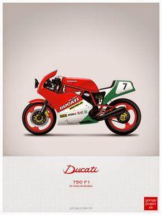 Ducati 750 motorcycle illustration poster, print 18 x 24 inches Ducati 750, Moto Ducati, Ducati Cafe Racer, Ducati Scrambler, Moto Bike, Cafe Racers, Bobber, Ducati Pantah, Ducati Supersport