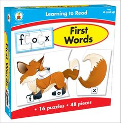 Adorable pictures and beginning words entice early readers to make the connection between letters and words! Players build 16 words with short vowel sounds by assembling colorful puzzles. Challenge growing skills by flipping over the pieces to build the words without pictures. The set includes 48 puzzle pieces and activity directions; it is perfect for ages 4 and up.