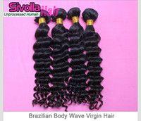 Hot sale quality deep wave cheap brazilian human hair bundle...