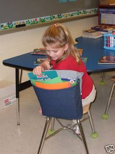 Chair Pockets or Seat Sacks For Classroom Organization