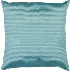 Turquoise Ribbed 22 X 22 Pillow Surya Rugs Accent Pillows Throw Pillows Bedding