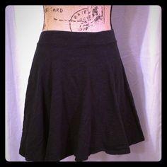 "Black Skater Skirt Cute lightweight skater skirt by So.  Waist 11"", length 15.5"".  100% cotton.  Like new, no fading, holes, or stains. SO Skirts Circle & Skater"