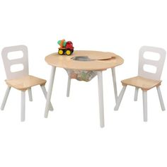 KidKraft Kid's 3 Piece Round Table and Chair Set