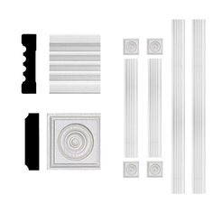 3/4 in. x 3 in. x 6 ft. MDF Fluted Window Casing Set-4301 - The Home Depot