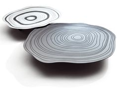 Glass coffee table SILVER RING by Saba Italia | design Giuseppe Viganò