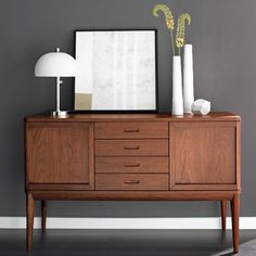 Astonishing Modern Credenzas Furniture With Contemporary Flair: Scadinavian Style Sideboard Danish Furniture, Teak Furniture, Mid Century Furniture, Modern Furniture, Furniture Design, Barrel Furniture, Home Living, Living Spaces, Living Room
