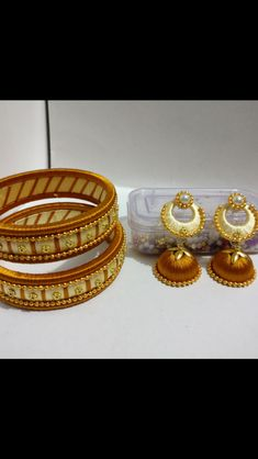 Silk Thread Earrings Designs, Beaded Necklace Patterns, Silk Thread Bangles, Thread Jewellery, Diy Jewelry, Jewelery, Designer Earrings, Indian, Bracelets