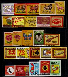 match book labels India Book Labels, Match Boxes, Matchbox Art, Vintage Packaging, Box Covers, Graphic Design Posters, Covered Boxes, Retro Design, Craft Work