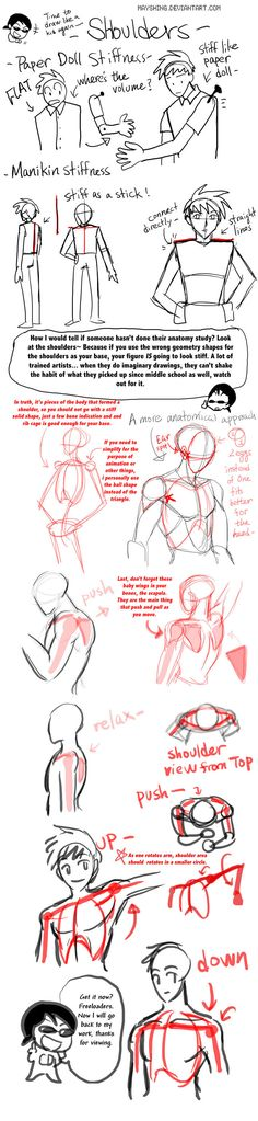 My manga series 2Masters | My manga series E-depth Angel | My facebook | My tumblr As requested. Now i will go back to animating. Anatomy shoulder area tutorial, dos and don'ts. Edit: added differe...