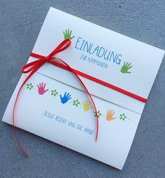 Einladungskarte zur Konfirmation oder Kommunion. Die Klappkarte kann selbst beschriftet werden oder nach Wunsch können wir auch gerne einen Einladungstext eindrucken - was dann 0,25 Euro pro...