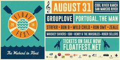 Float Fest- Appealing example of how to fit a large amount of information into a small space. #mailer @flyer