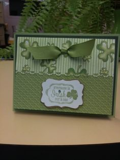 two st patricks day cards.  Could use the design idea for other cards, too.