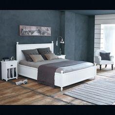 Holzbett 160 x 200cm, weiß