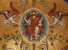 Christ the Living Vine Detail of mosaic on the apse on the Lady chapel in Westminster Cathedral, London. Orthodox Calendar, Westminster Cathedral, Images Of Christ, Catholic Books, Christ The King, The Good Shepherd, John The Baptist, Sacred Art, Book Of Life