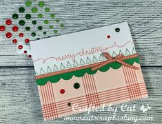 Color Dare #369 ~ Tic-Tac-Toe ~ Holly Jolly Celebrate Good Times, Burlap Ribbon, Shaker Cards, Close To My Heart, Sympathy Cards, Creative Inspiration, Craft Projects, Christmas Cards, Card Making