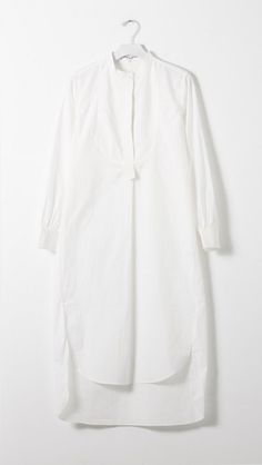 Apiece Apart Samara Shirt Dress in White | The Dreslyn