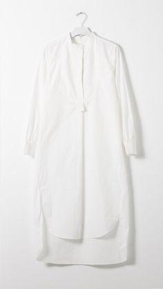 Apiece Apart Samara Shirt Dress in White | The Dreslyn