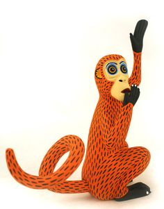Oaxacan Wood Carvings Gallery Luis Pablo Monkey ♦️More Pins Like This At FOSTERGINGER @ Pinterest ♦️