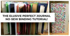 No sew journal bindi