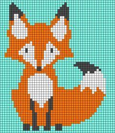 Thrilling Designing Your Own Cross Stitch Embroidery Patterns Ideas. Exhilarating Designing Your Own Cross Stitch Embroidery Patterns Ideas. Knitting Charts, Baby Knitting, Knitting Patterns, Pixel Pattern, Fox Pattern, Pixel Crochet, Crochet Chart, Loom Patterns, Beading Patterns