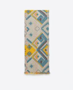 GEOMETRIC PRINT SCARF-Scarves-Accessories-WOMAN | ZARA United Kingdom