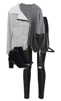 """""""Untitled #10229"""" by alexsrogers ❤ liked on Polyvore featuring Acne Studios, Glamorous, Yves Saint Laurent and Topshop"""