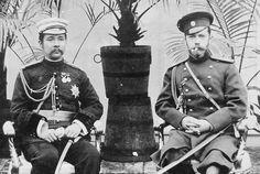 """ภาพพลิกประวัติศาสตร์ """"พระบาทสมเด็จพระจุลจอมเกล้าเจ้าอยู่หัว ทรงประทับเคียงคู่กับพระเจ้าซาร์นิโคลัสที่ 2 แห่งรัสเซีย"""""""