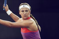 NikeCourt French Open 2015 Collection. After missing the 2014 tournament in Paris due to an injury, Victoria Azarenka will take the court in 2015 in the Nike Advantage Dri-FIT Cool Tank paired with the Nike Victory Printed Skirt & Nike Zoom Cage 2.
