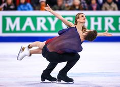 Gabriella Papadakis and Guillauma Cizeron of France compete during Day 4 of the ISU World Figure Skating Championships 2016 at TD Garden on March 31...
