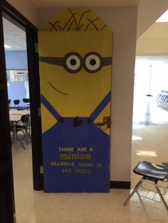 """There are a minion reasons why math is the best"" Despicable Me math classroom door"