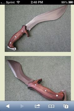 Very interesting wood handle work...