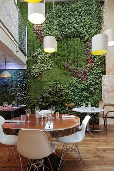 More plant-based designs in a restaurant. Is your restaurant doing something similar?