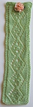 lacy, knit bookmark