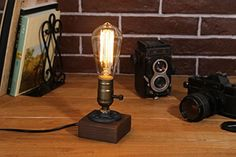 Discounted Kiven Vintage Industrial Decor Vintage Table Light Edison Bulb Wooden Desk Lamp Retro Home Decor Lighting Antique Nightlight Art Display 1930s Home Decor, Vintage Home Decor, Vintage Table, Vintage Industrial Lighting, Industrial Interior Design, Industrial Table, Pipe Lighting, Edison Lighting, Edison Lamp